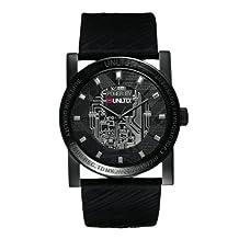 Marc Ecko Men's UNLTD E11516G1 Black Leather Quartz Watch with Black Dial