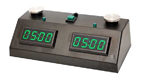 - ZMF-II Chess Clock - Black with Green LED