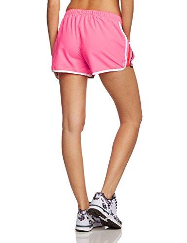 Adidas Women's M10 Shorts Solar Pink/ White/ Earth Green