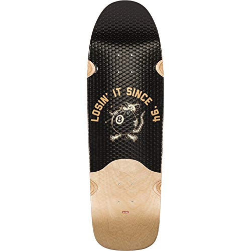 Globe Chopper Black/Natural Longboard Skateboard Deck - 9.75