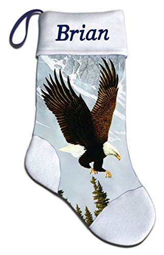 NEW Eagle Wildlife Christmas Holiday Personalized Stocking Mark Mansanarez