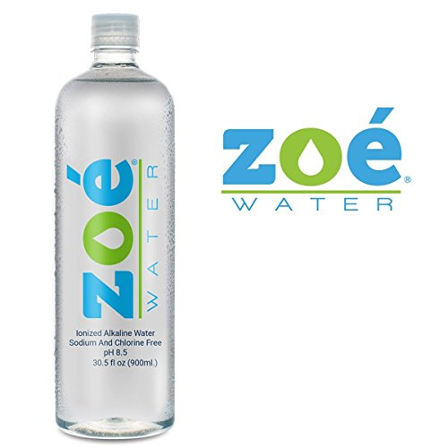 Enhanced Alkaline Drinking Water, 8.5 pH, 900 ml Bottle by Zoe Water - Filtered & Purified, Antioxidant, Sodium and Chlorine Free, Infused with Electrolytes Water Bottle