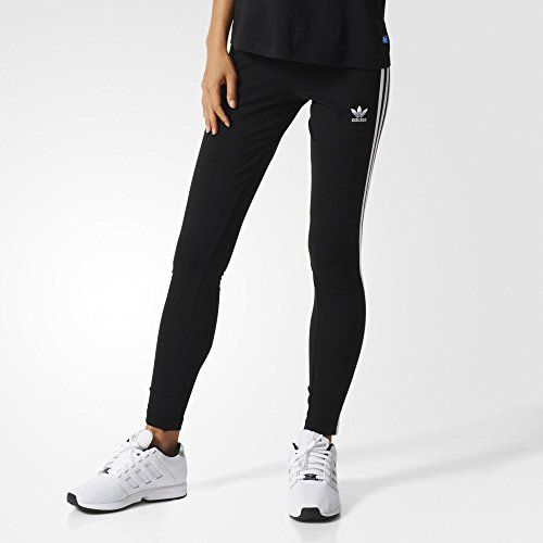 Adidas Jersey Tights (adidas Originals Women's 3-Stripes Leggings, Black/Trefoil Stripe, Large (US Size) (US Size))