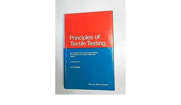 Principles of textile testing: amazon. Co. Uk: j. E. Booth: books.