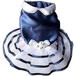 Weiyun Wedding Dress Pet for Small Dogs Lace Cat Skirt Party Princess Pet Apparel