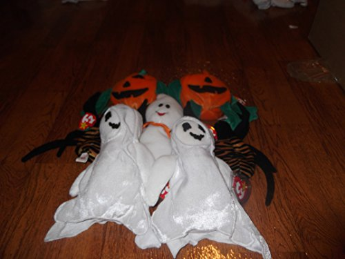 TY Beanie Babies Lot of 7 Halloween Theme Plush - Include...