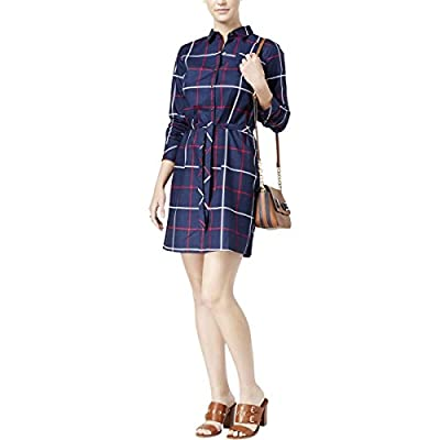 Tommy Hilfiger Womens Cotton Plaid shirtdress