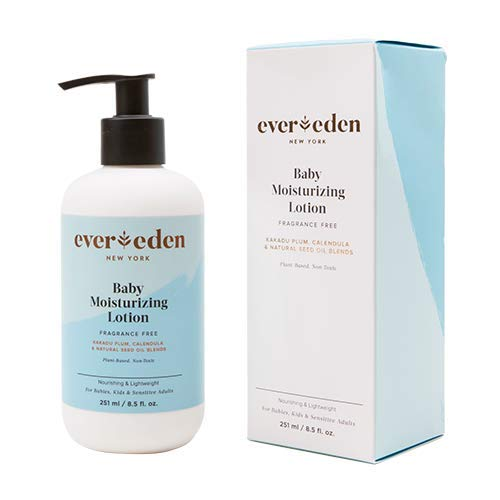 Evereden Baby Lotion With Coconut Oil & Calendula Oil - Lotion with Fragrance Free Moisturizer - Body Lotion & Eczema Relief Lotion For Dry Skin with Pump Bottle - Baby Essentials for Newborns