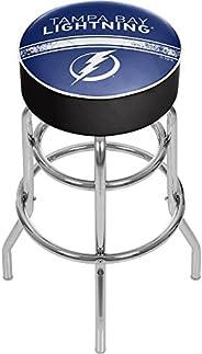 Trademark Gameroom NHL Chrome Bar Stool with Swivel-Tampa Bay Lightning