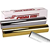 """ORACAL 351 2 color combo 12"""" x 24"""" craft vinyl with transfer paper ( Chrome Silver/Chrome Gold )"""