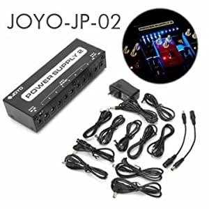 joyo jp 02 power supply 2 guitar pedal device 10 isolated outputs led everything else. Black Bedroom Furniture Sets. Home Design Ideas