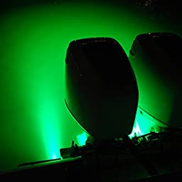 Lumitec SeaBlazeX LED Surface Mount Underwater Boat Light - Green with strobe 101143