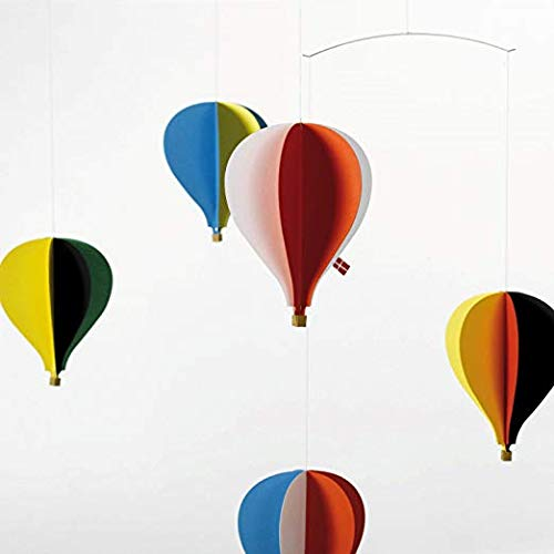 Flensted Mobiles 5 Balloon Hanging Nursery Mobile - 26 Inches Cardboard