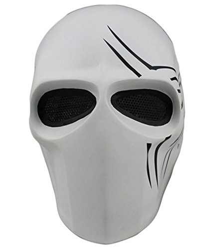 Deathstroke Army of Two Star Wars Fiberglass Full Face Mask (White)