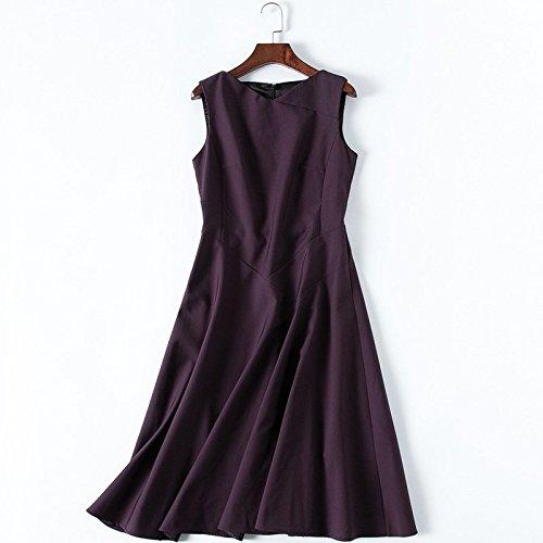 MiGMV?2018 Nouveau Style de Robes sans Manches Robe Taille Une Jupe, Taille de caractres de Taille Moyenne Robe Robe Longueur,M,Violet