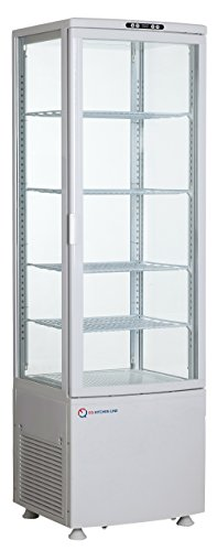 EQ White Commercial Refrigerated Bakery Display Cases S.Steel, (Refrigerated Bakery Display Case)