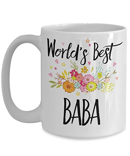 Baba Mug - World's Best Baba Cup - Funny Gift For Family Members And Relatives – White Ceramic Coffee Or Tea Mug In 11oz & 15oz Sizes