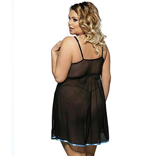 Myhope Donne Lingerie Babydoll Plus Size Trasparente Pizzo Tulle Tentazione Camicia