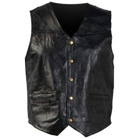 Giovanni Navarre Italian Stone Design Genuine Leather Vest- 7x