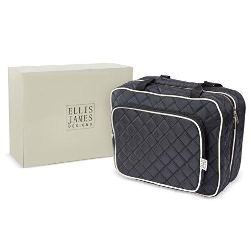 Ellis James Designs Large Travel Toiletry Bag for Women with Hanging Hook, Big Wash Bag - Hair Dryer Case - Multi-use Toiletries Kit Cosmetics Makeup XL Bathroom Organizer Suitcase Luggage