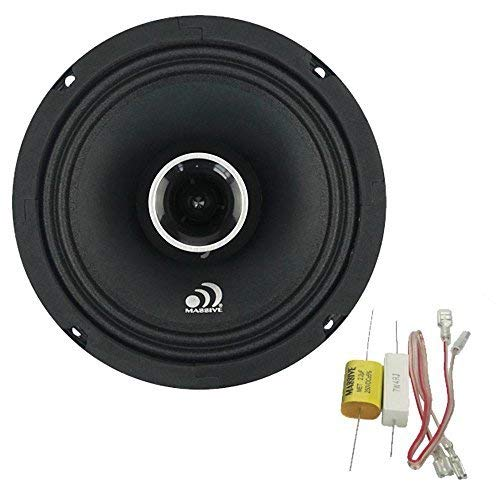 (Massive Audio P65X - 6 Inch / 6.5 Inch, 240 Watts Max / 120w RMS, 4 Ohm, PX Series, Pro Audio Coaxial Car Audio Speaker System (Sold as Each))
