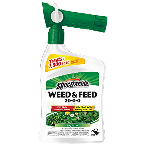 Spectracide Weed & Feed 20-0-0, Ready-to-Spray, 32-Ounce (Best Way To Weed And Feed Lawn)
