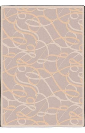 Joy Carpets Ribbons - Joy Carpets Playful Patterns - Children's Area Rugs Ribbons, 5'4