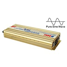 Meind 2000W DC 12V to AC 220V Pure Sine Wave Power Inverter with Battery Charge Function for Solar Power System or Home Use