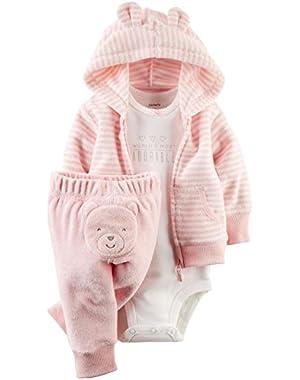 Baby Boys' 3 Piece Terry Cardigan Set (Baby)