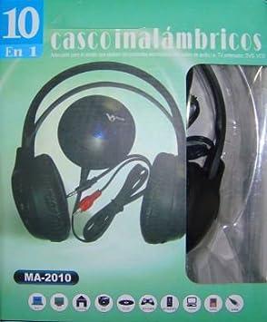AURICULARES INALAMBRICOS CASCOS INALAMBRICOS SIN CABLE 10 EN 1 PARA PARA RADIO FM MP3 PC TV ETC.: Amazon.es: Electrónica