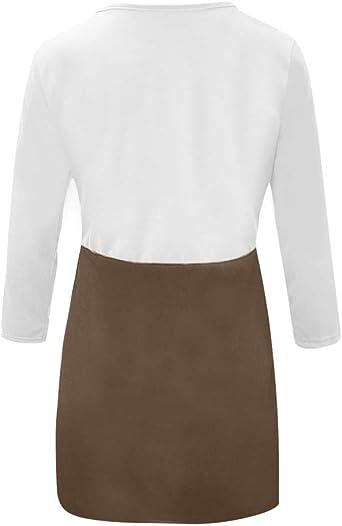 Bodycon damska sukienka biznesowa, koktajlowa, z długim rękawem, okrągły dekolt, podkreślająca figurę, do kolan, elegancka sukienka na zimę, na wesele, minisukienka: Odzież
