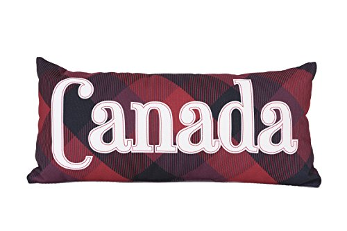 Canada Plaid Brand New Canvas Decorative Ultra Soft Quilted Standard Multicolored Printed Comfortable Throw Cushion 10x22-inch