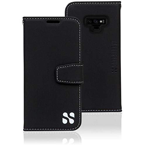 Samsung Galaxy Note 9 Cell Phone Radiation Blocker and RFID Wallet Case by SafeSleeve (Black)