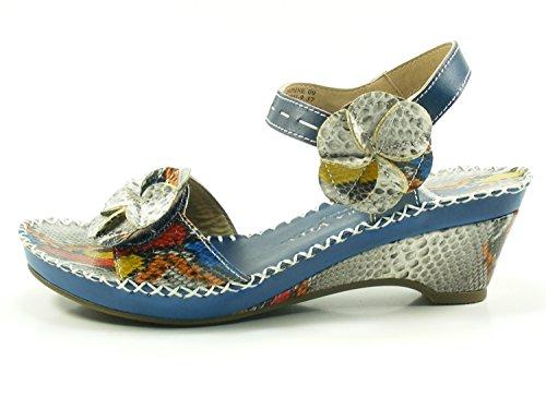 09 De Fashion Vita Blau Daphne Laura Cx9901 Cuero Sandalias 9 Mujer wI07nU