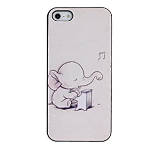 Little Elephant Playing the Piano Pattern PC Hard Case with Black Frame For HTC One M9 Phone Case Cover