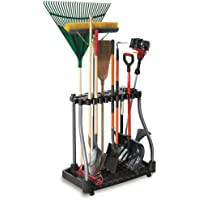 Rubbermaid Deluxe Tool Tower Rack with Casters Holds 40 Tools