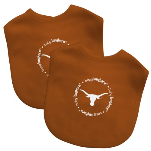 Baby Fanatic Team Color Bibs, University of Texas, 2-Count