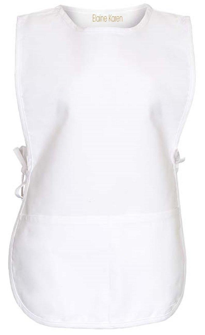 Elaine Karen Men/'s Women/'s Unisex Cobbler Chef Apron Art Smock with 2 Pockets Large 6Pk White