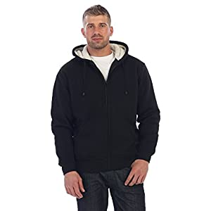 Gioberti Men Heavyweight Sherpa Lined Fleece Hoodie Jacket