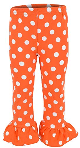 Unique Baby Girls Fall Fashion Halloween Polka Dot Pumpkin Outfit (3t) by Unique Baby (Image #3)