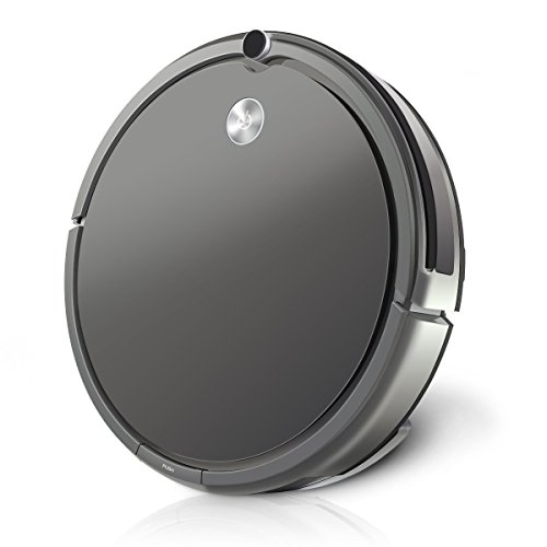 MECO Robotic Vacuum Cleaner with Gyrocsope Navigation Sensor, High Suction, Self-Charging Robot Vacuum Cleaner Drop-Sensing Technology for Pet Hair and Allergens Support Wet Mop with Water Tank