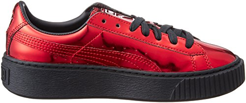 Puma Metallic Rouge Femme Shoes Platform Basket rqrSA1