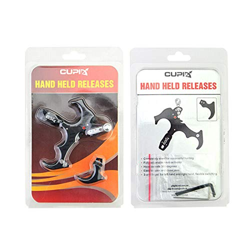 Archery Bow Release Aids 3 or 4 Finger Grip Thumb Caliper Trigger Automatic