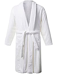 Men's Big & Tall Shawl Collar Waffle Bathrobe 708431