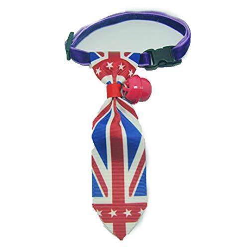 Pappy-cl Pet Ties Dog Collar Cat Collar Pet Bow Ties Dog Tie Smart-Looking Pet Costume Flag S]()