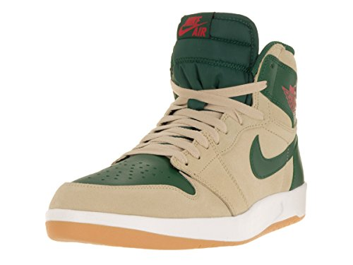 Nike Air Jordan 1 High The Return, Scarpe da Fitness Uomo Beige / Rojo / Verde / Blanco (Snd Dn/Unvrsty Rd-grg Grn-whit)