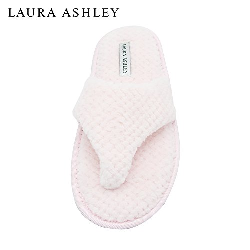Laura Ashley Ladies Thong Spa Slippers with Memory Foam Insole Cotton Candy GrhZuVg