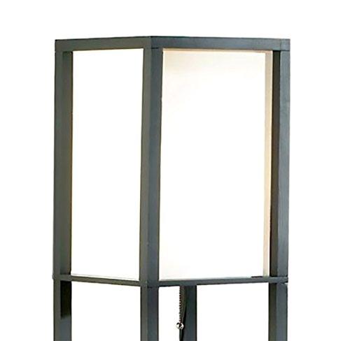 Wood Floor Lamps Square Etagere Floor Lamp Storage And Display Shelf