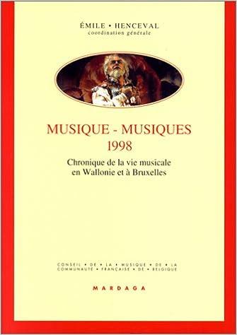 Livre gratuits Musiques, musiques, 1998 pdf ebook