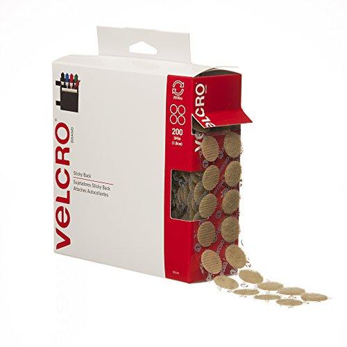 VELCRO Brand Sticky Coins Beige